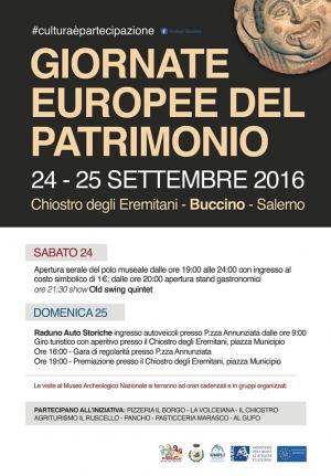 """Il museo archeologico Nazionale di Volcei """"M.Gigante"""" partecipa all'iniziativa le Giornate Europee della Cultura"""