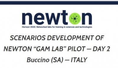 "SCENARIOS DEVELOPMENT OF NEWTON ""GAM LAB"" PILOT – DAY 2 Buccino (SA) – ITALY"